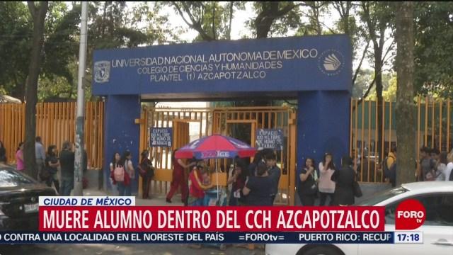 FOTO: muere estudiante por falla respiratoria en cch azcapotzalco