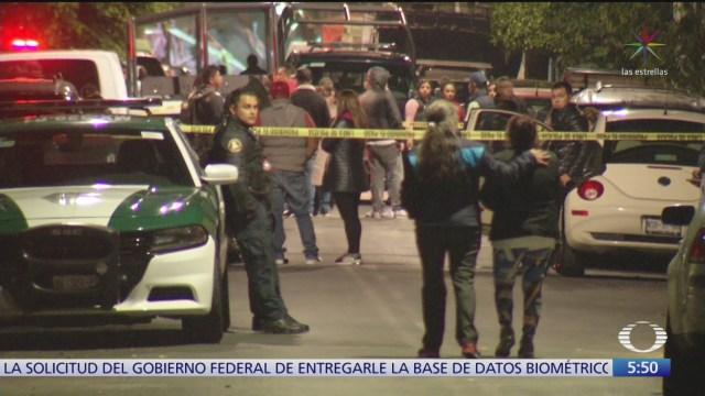 mueren dos hombres baleados en la ciudad de mexico