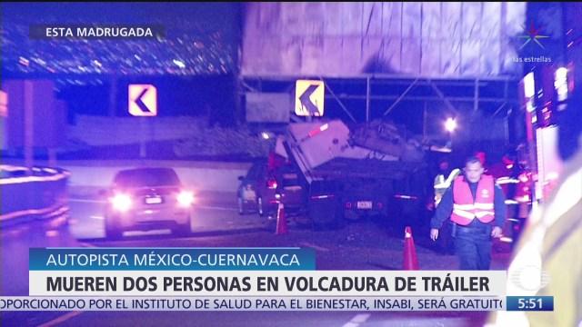 mueren dos personas en accidente vehicular en la mexico cuernavaca