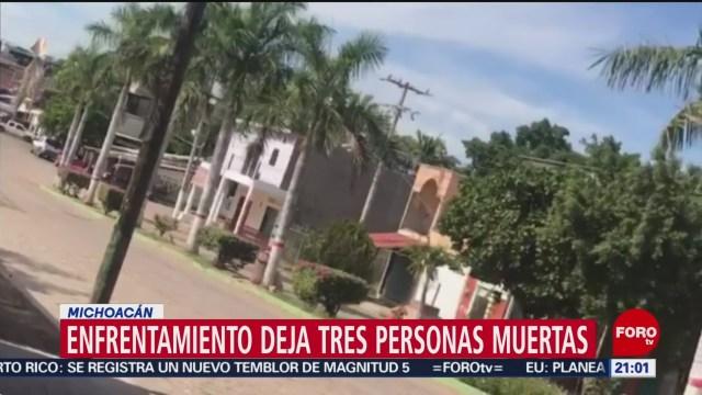FOTO: 11 enero 2020, mueren dos presuntos delincuentes y un policia en churumuco michoacan