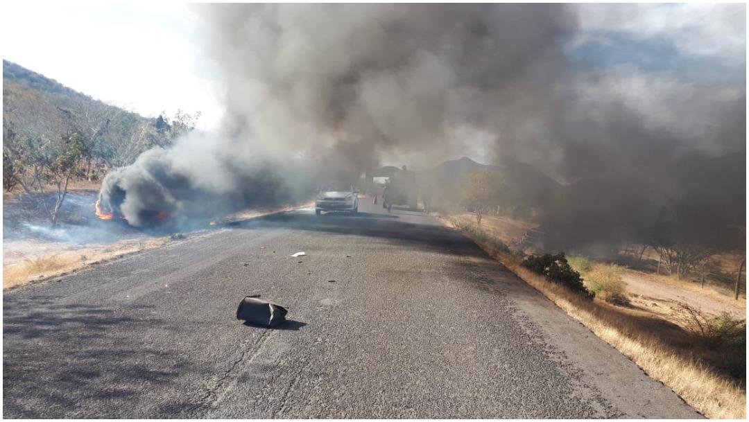 Foto: Al menos tres personas murieron tras los enfrentamientos registrados en Churumuco, Michoacán, 11 de enero de 2020 (Foro TV)