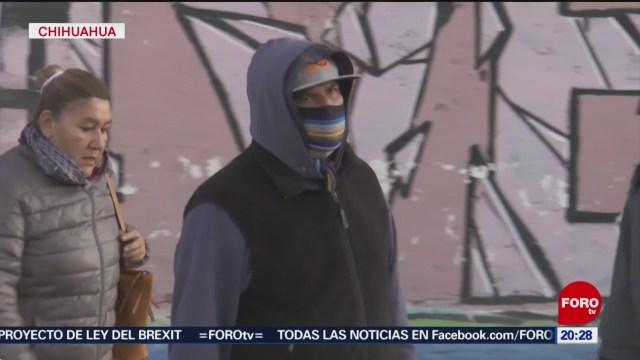 Foto: Chihuahua Temperaturas Debajo Cero Grados Frente Frio 23 Enero 2020