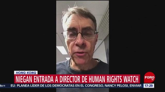 FOTO: 12 enero 2020, niegan entrada a hong kong de jefe de human right watch