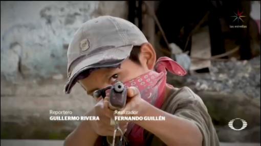 Foto: Niños Armados Chilapa Miedo Los Ardillos 23 Enero 2020
