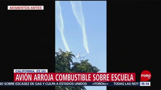 FOTO: ninos resultan afectados por combustible que arrojo avion en california, 14 de enero del 2020