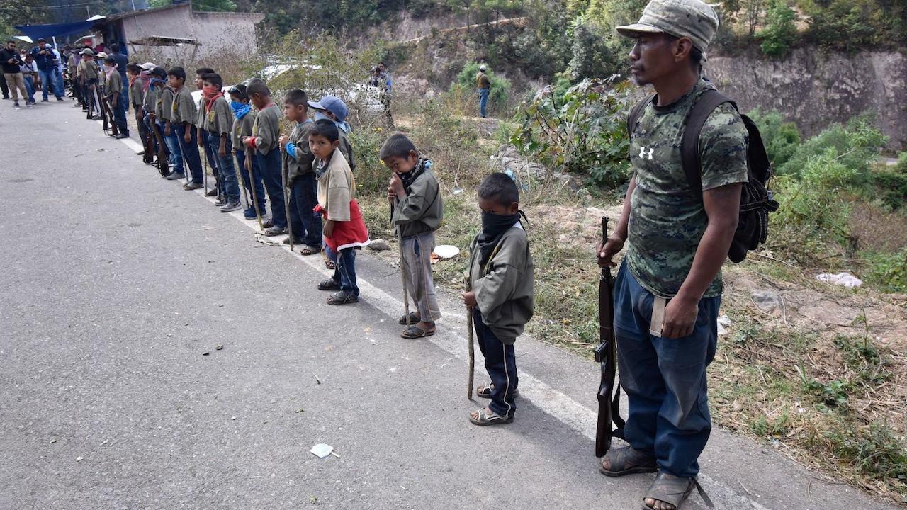 Foto Niños Soldados Guerrero 28 Enero 2020