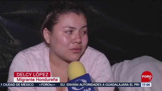 FOTO: 18 enero 2020, no hay nada de oportunidades en honduras dice migrante hondurena