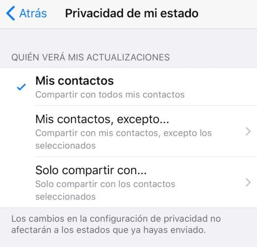 Foto ¿Cómo ocultar tus estados de WhatsApp a un contacto? 14 enero 2020