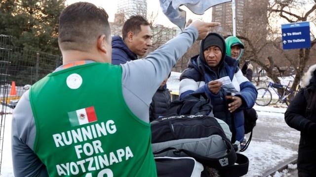 Foto: Padre de estudiante de Ayotzinapa se hace escuchar en NY