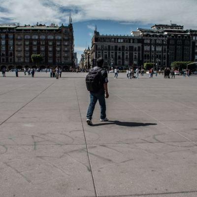 Panorámica del Zócalo de la Ciudad de México