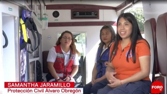 Foto: En la alcaldía Álvaro Obregón, 11 mujeres, elementos de Protección Civil, auxilian a la población en cualquier situación de riesgo