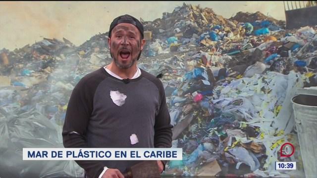 Foto: pepenando la noticia mar de plastico descubierto en el caribe