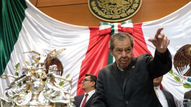 Impiden a Muñoz Ledo exhibir a Guardia Nacional