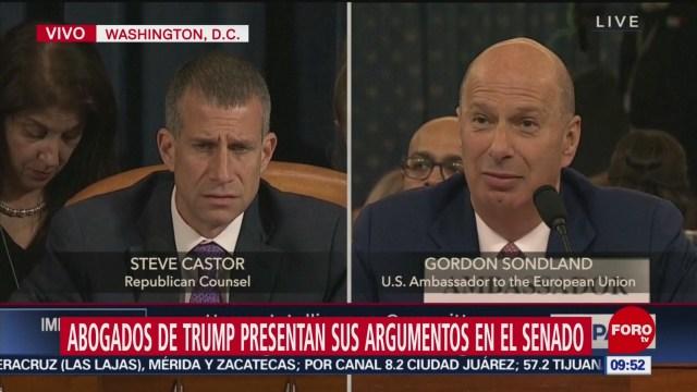 FOTO: 25 enero 2020, presentan abogados de trump sus argumentos en senado de eeuu