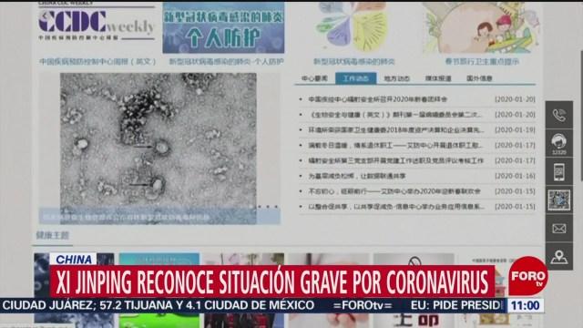 FOTO: 25 enero 2020, presidente de china reconoce situacion grave por coronavirus