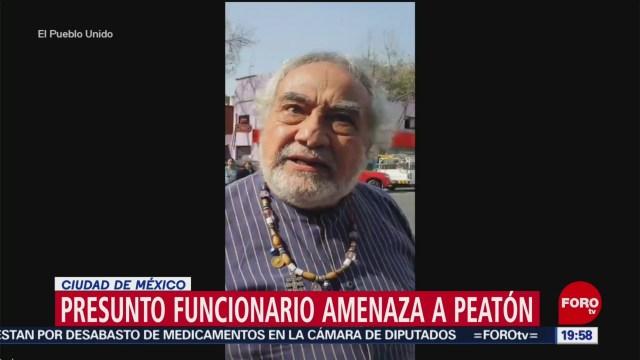 Foto: Video Funcionario Fgr Amenaza Peatón 16 Enero 2020