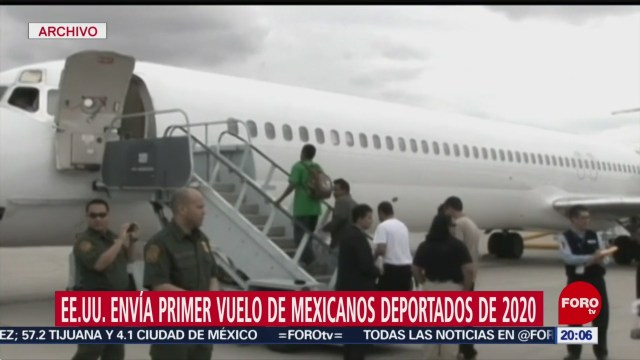Foto: Primer Vuelo Mexicanos Deportados Eeuu 2020 17 Enero 2020