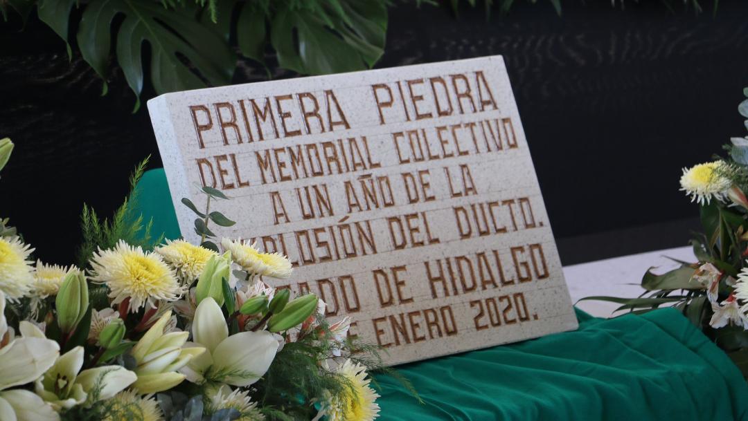 FOTO: Colocan primera piedra del memorial en Tlahuelilpan , el 18 de enero de 2020