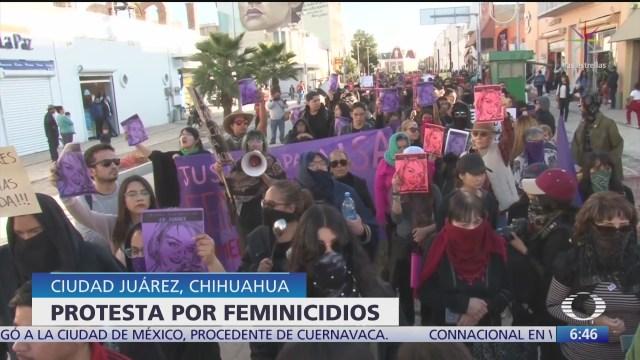 protestan mujeres en ciudad juarez y cdmx por violencia de genero
