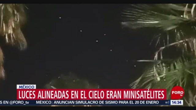 FOTO: las luces en el cielo del valle de mexico