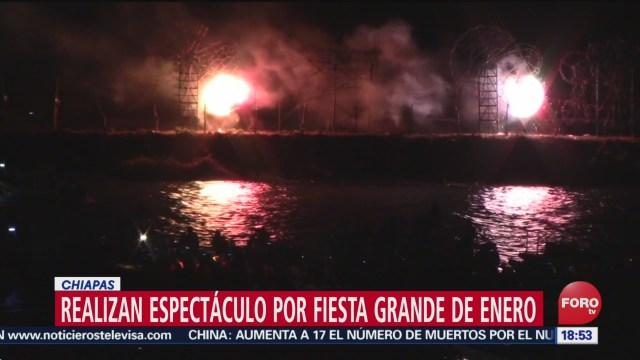 FOTO: realizan tradicional combate naval dentro de la fiesta grande en chiapas