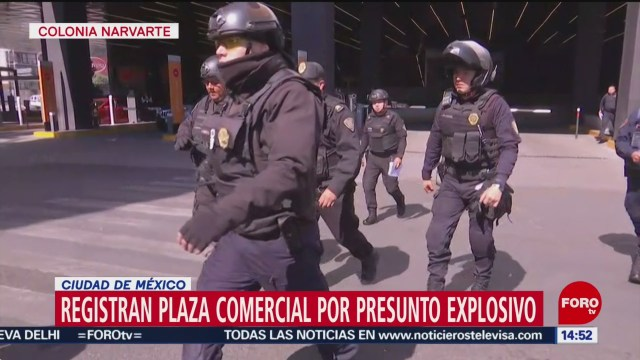 FOTO: registran plaza comercial en la cdmx por presunto artefacto explosivo