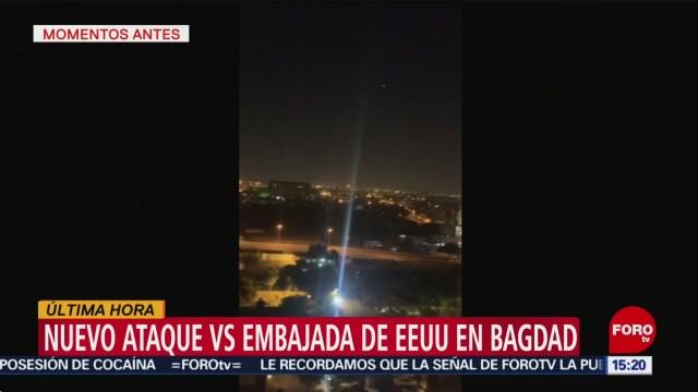 FOTO: reportan ataque con cohetes a embajada de eeuu en irak
