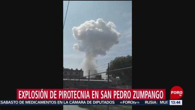 FOTO: reportan explosion de pirotecnia en zumpango edomex