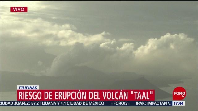 FOTO: reportan riego de erupcion del volcan taal