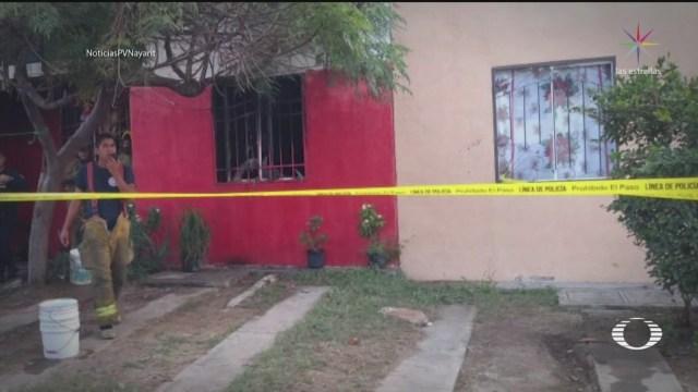 Foto: Rescatan Niños Incendio Casa Nayarit 9 Enero 2020