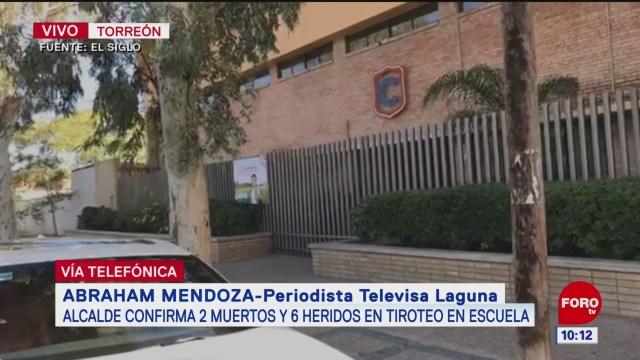 resguardan hospital tras tiroteo en escuela de torreon