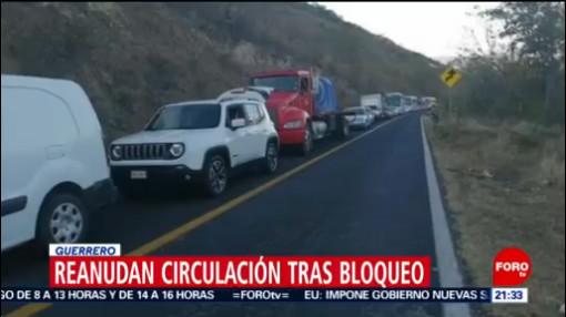 retiran bloqueo en la carretera federal iguala ciudad altamirano