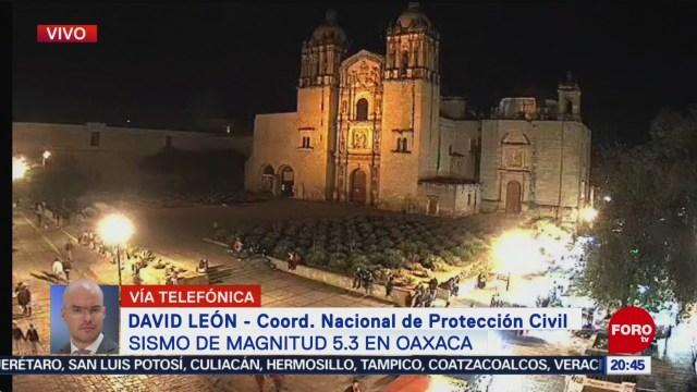 Foto: Sismo Oaxaca Saldo Blanco Protección Civil 16 Enero 2020