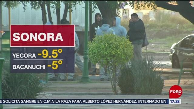 se mantienen las bajas temperaturas en sonoraFOTO: 11 enero 2020,