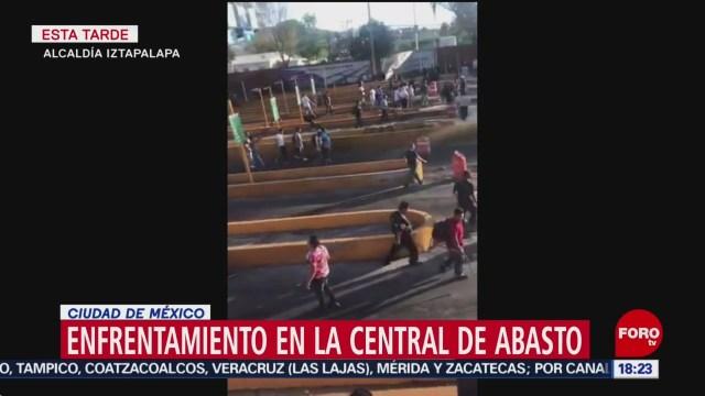 FOTO: se registra enfrentamiento en la central de abasto de cdmx