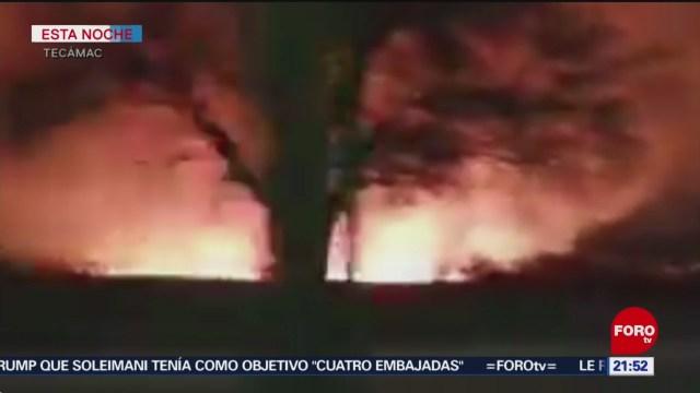 FOTO: 11 enero 2020, se registra incendio en pastizales de tecamac