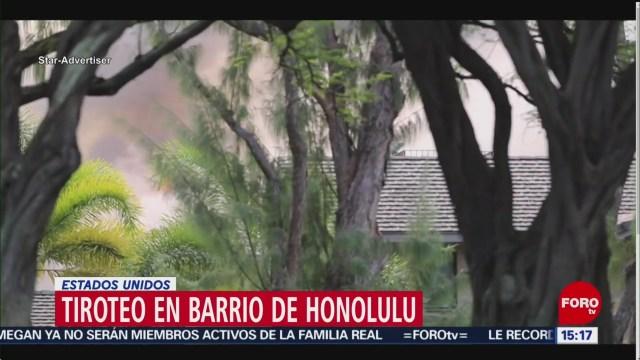 FOTO: 19 enero 2020, se registra tiroteo en barrio de honolulu en hawai