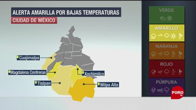 Foto: Cdmx Alcaldías Alerta Amarilla Frío Jueves 22 Enero 2020