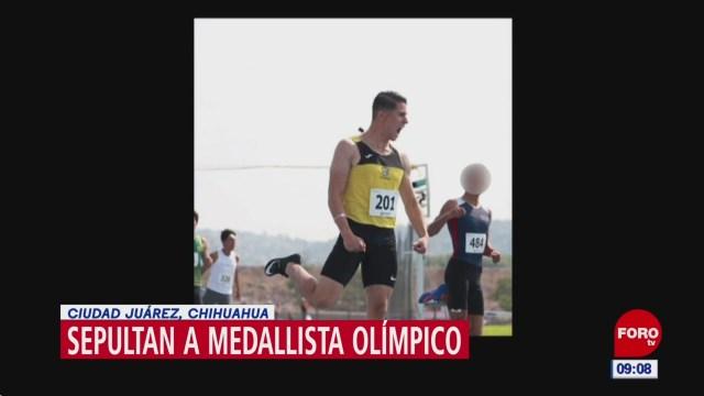 sepultan a medallista olimpico