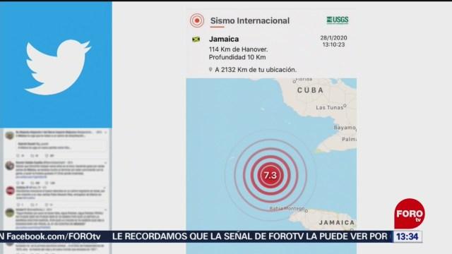 sismo de 7 3 grados en el caribe entre jamaica y cuba