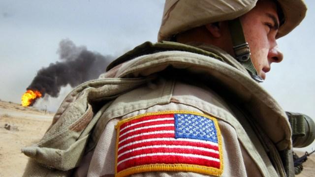 Fotografía que muestra a un soldado de Estados Unidos, 25 enero 2020