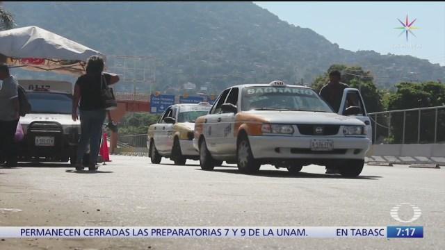 taxistas de acapulco victimas de robos y extorsiones