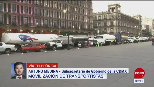 transportistas bloquearon algunos accesos carreteros en cdmx