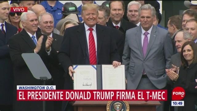 trump firma el acuerdo comercial t mec
