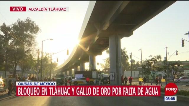vecinos bloquean avenida tlahuac por falta de agua