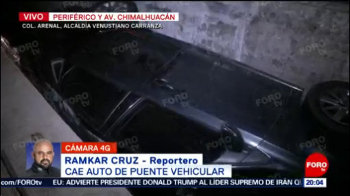 FOTO: 18 enero 2020, vehiculo cae de puente vehicular en venustiano carranza