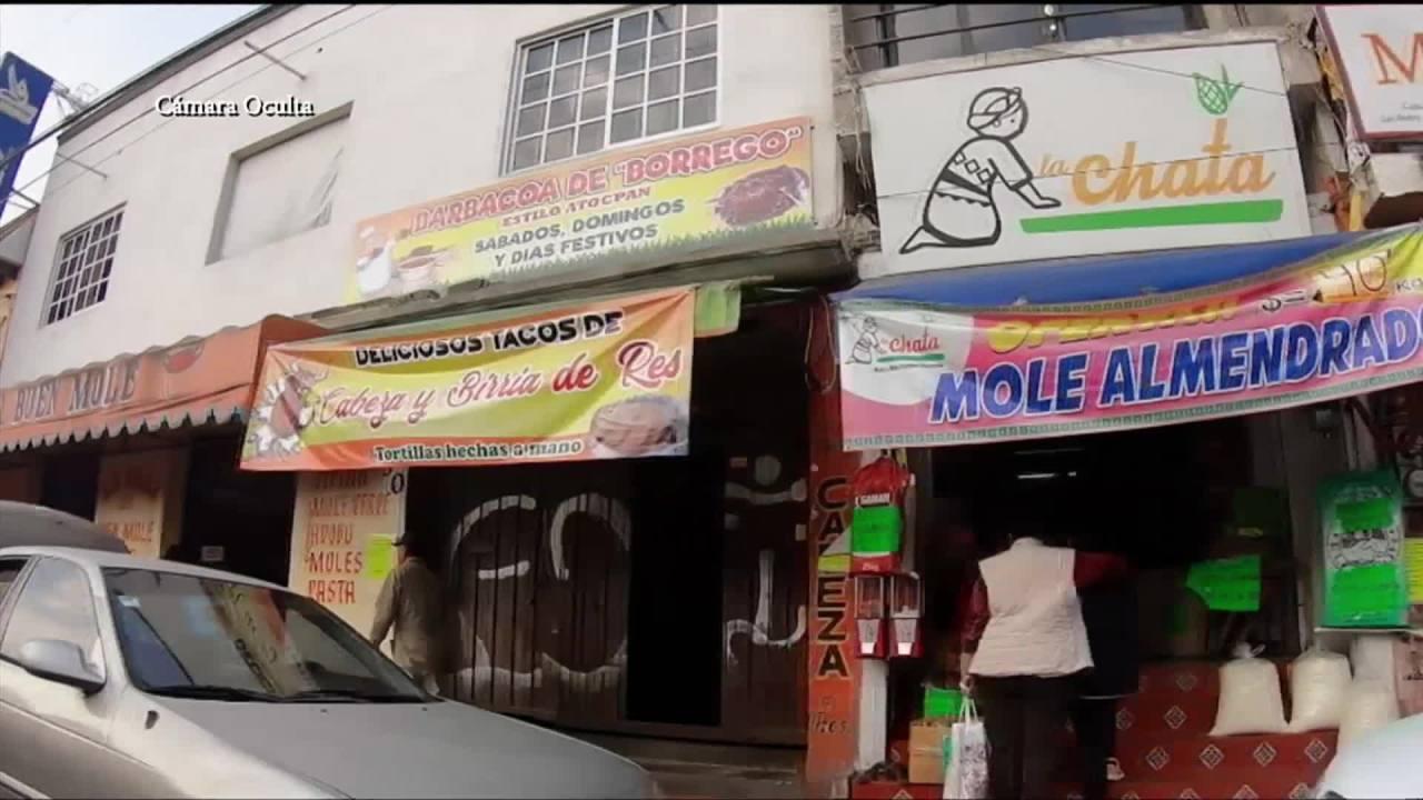 venden mole falso a turistas en san pedro actopan