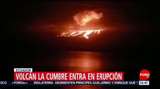 volcan la cumbre de islas galapagos registra erupcion