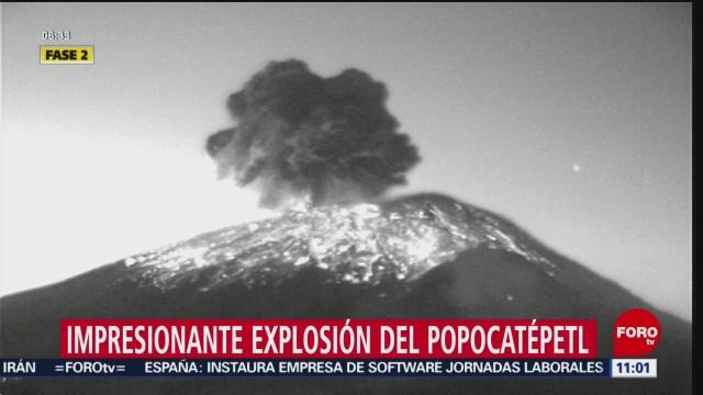 volcan popocatepetl registra explosion de tres kilometros de altura