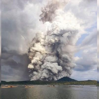 Foto: Continúa alerta por el volcán Taal en Filipinas, el 19 de enero de 2020